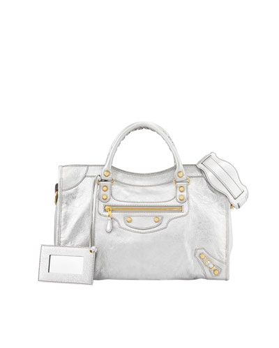 Balenciaga Giant 12 Golden City Bag, Gray