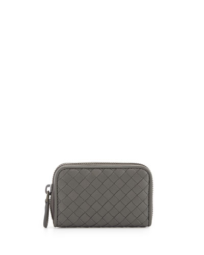 Mini Zip-Around Wallet, New Light Gray