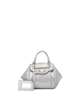 Balenciaga Giant Nickel Zip Traveler Extra-Small Backpack, Gris Aluminum
