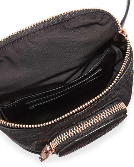 Dumbo Pebbled Leather Belt Bag, Black