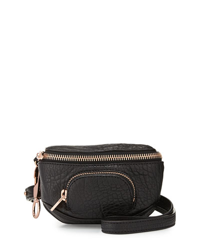 Alexander Wang Dumbo Pebbled Leather Belt Bag, Black