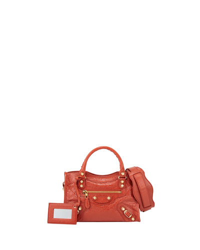 Balenciaga Giant 12 Golden City Mini Bag, Rouge