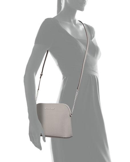 Cindy Large Dome Crossbody Bag, Pearl Gray
