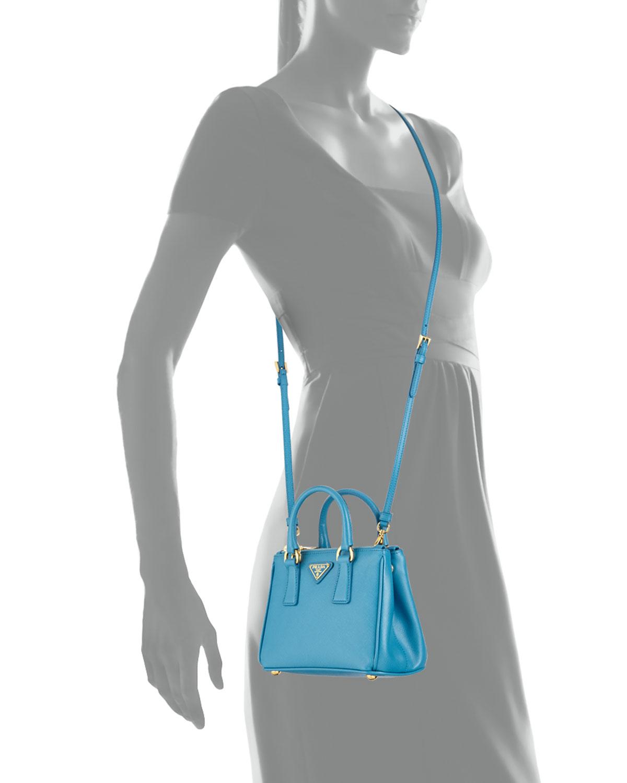 8cdf687bf3 Prada Saffiano Mini Galleria Crossbody Bag