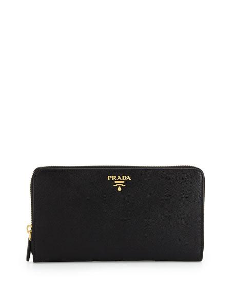 edbc7f0d62f011 ... authentic prada textured leather travel wallet black nero neiman marcus  28e07 8e561