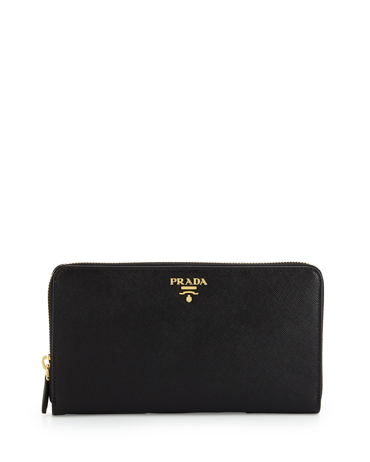 92af4931b6833 Prada Textured Leather Travel Wallet