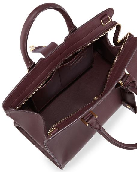 ysl cross bag - Saint Laurent Y-Ligne Cabas Mini Leather Bag, Bordeaux