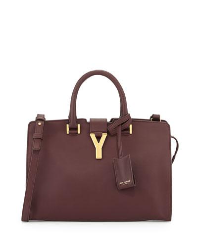 Y-Ligne Cabas Mini Leather Bag, Bordeaux