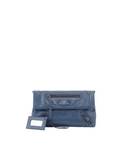 Balenciaga Classic Envelope Clutch Bag with Strap