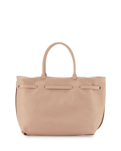 Brunello Cucinelli Monili Chain-Trim Maxi Tote Bag, Golden Brown