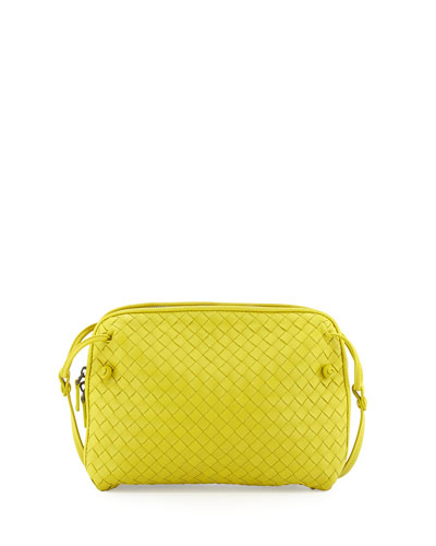 Woven Small Crossbody Bag, Chartreuse