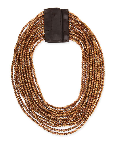 Beaded Multi-Strand Necklace, Copper