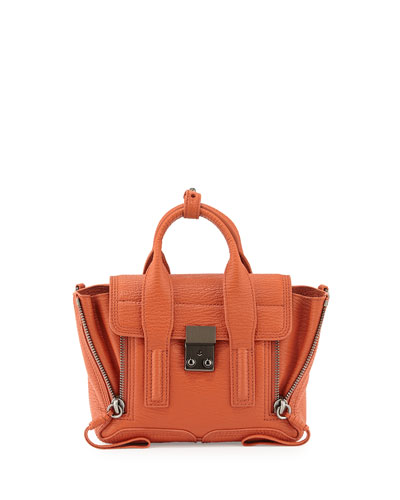 3.1 Phillip Lim Pashli Mini Leather Satchel Bag, Persimmon