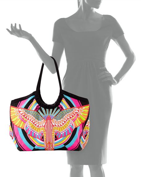 Multicolor Canvas Tote Bag