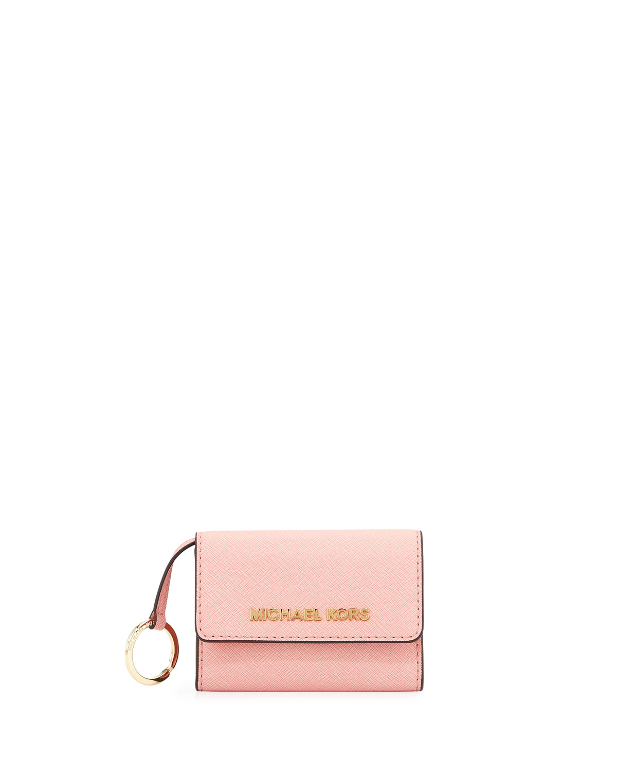 3613dd6b5b84 MICHAEL Michael Kors Jet Set Travel Coin Purse, Pale Pink | Neiman ...