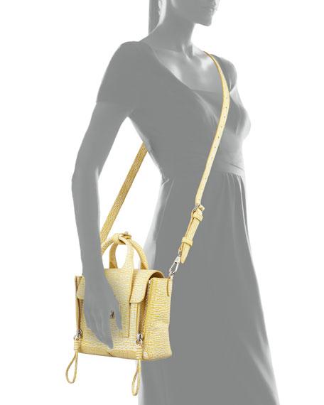 Pashli Mini Leather Satchel Bag, Ivory/Mimosa