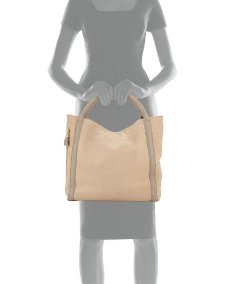 Harriet Porte Epaule Tote Bag, Light Pebble