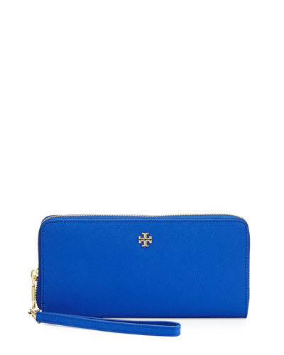 York Continental Zip Wallet, Jelly Blue