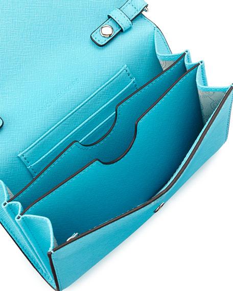 Jet Set Travel Crossbody Phone Bag, Aquamarine