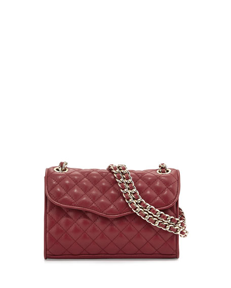 Rebecca Minkoff Quilted Affair Mini Shoulder Bag, Wine