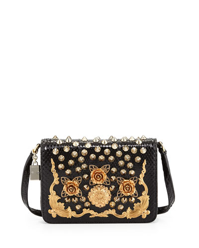 Dolce & Gabbana Lily Twist Crossbody Bag, Black