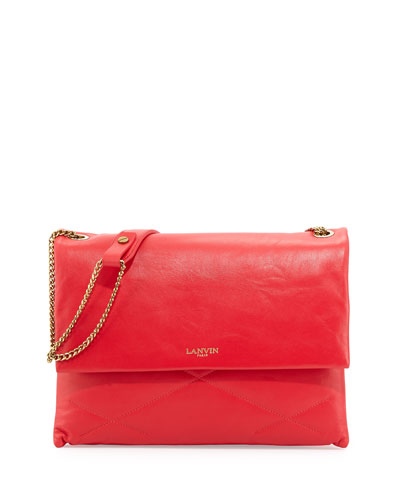 Lanvin Sugar Medium Chain Shoulder Bag, Raspberry