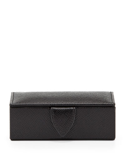 Panama Mini Cuff Link Box, Black