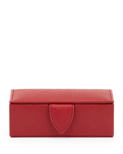 Panama Mini Cuff Link Box, Red