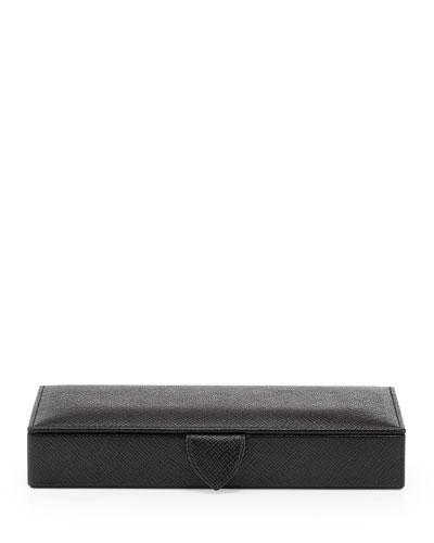 Panama Cuff Link Box, Black