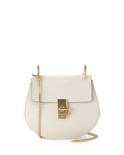 Chloe Drew Small Chain Shoulder Bag, Off White