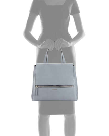 Pandora Medium Waxy Calf Bag, Gray