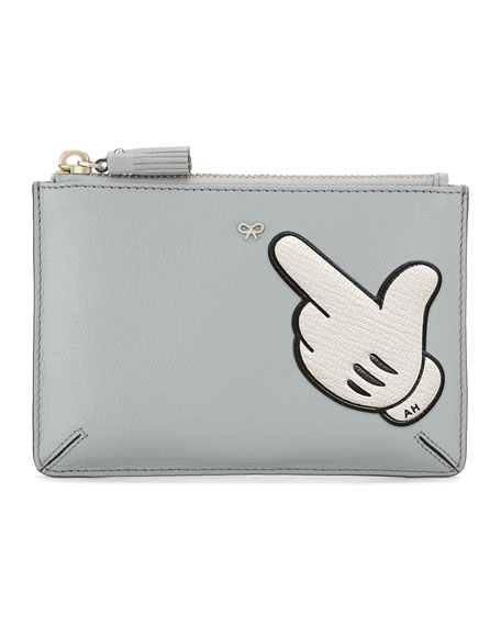 """""""Pointing In"""" Leather Sticker for Handbag"""