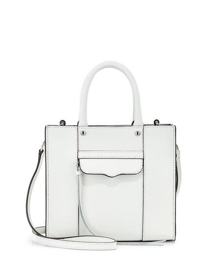 Mini MAB Saffiano Tote Bag, White