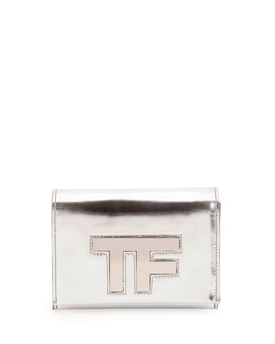 Tom Ford Small TF Chain Crossbody Bag, Silver