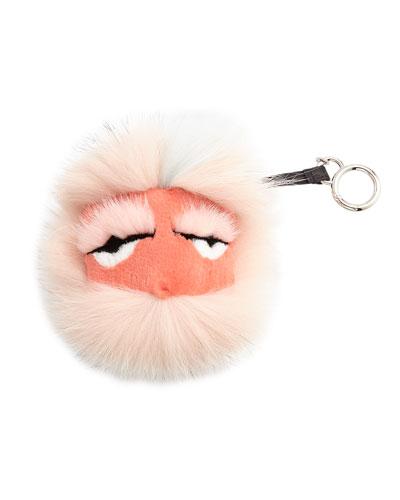 Fendi Fur Monster Charm for Handbag, Light Pink
