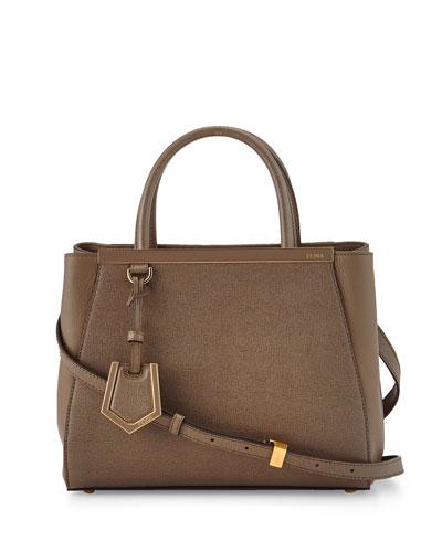 Fendi 2Jours Petite Shopping Tote Bag, Brown