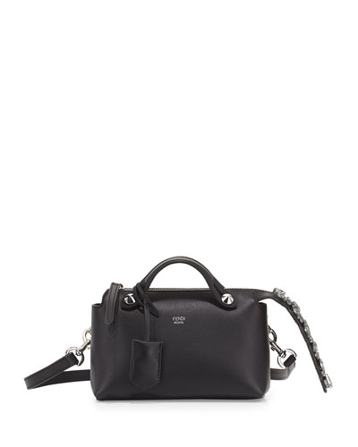 Fendi By The Way Mini Crystal-Tail Satchel Bag, Black