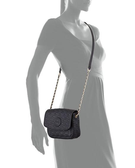 Marion Quilted Mini Shoulder Bag, Black
