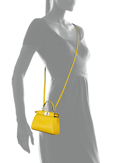 Peekaboo Micro Satchel Bag,  Yellow
