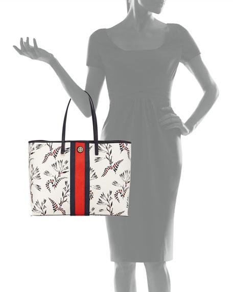 Kerrington Floral-Print Tote Bag, White