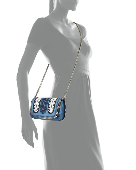 Falabella Embroidered Denim Crossbody Bag