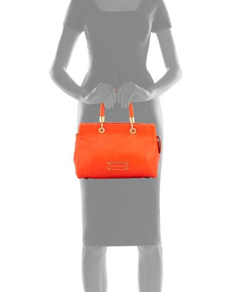 Too Hot To Handle Satchel Bag, Bright Tangelo