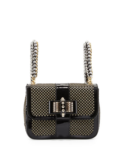 Sweet Charity Mini Backpack, Black/Gold