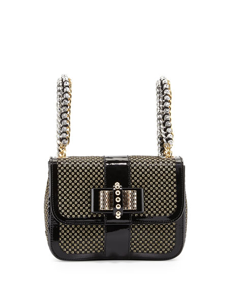 Christian Louboutin Sweet Charity Mini Backpack, Black/Gold