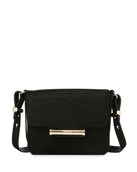 Jason Wu Diane Mini Calf-Hair Crossbody Saddle Bag,