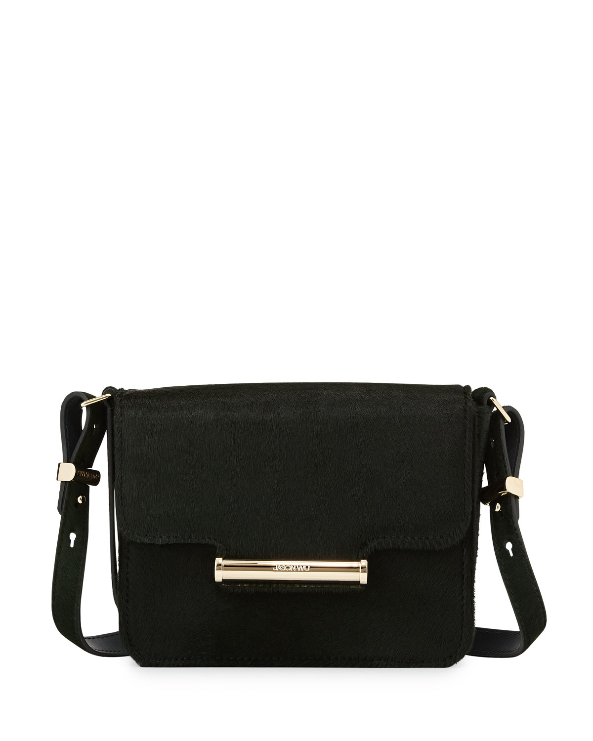 Diane Mini Calf Hair Crossbody Saddle Bag Emerald