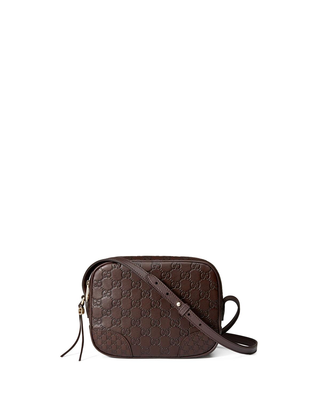 88cea584c1c3 Gucci Bree Guccissima Leather Disco Bag, Brown   Neiman Marcus
