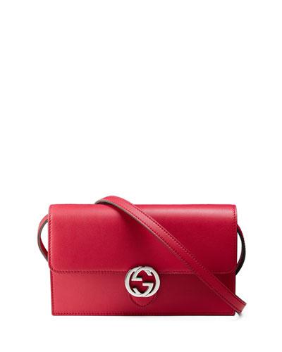 Gucci Icon Wallet w/Strap, Bright Pink