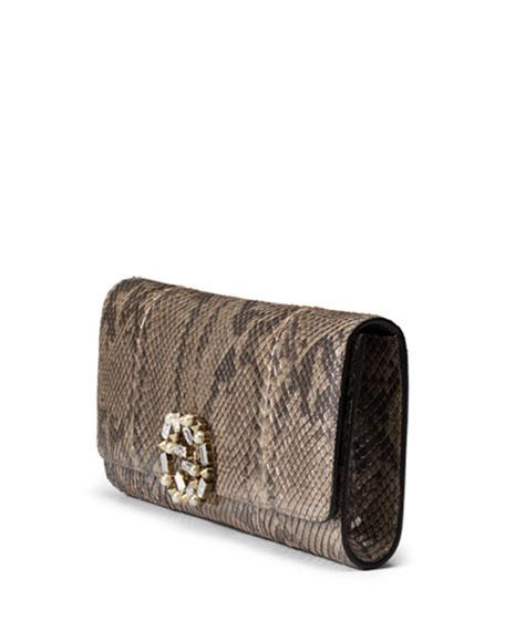 Broadway Python Evening Clutch Bag