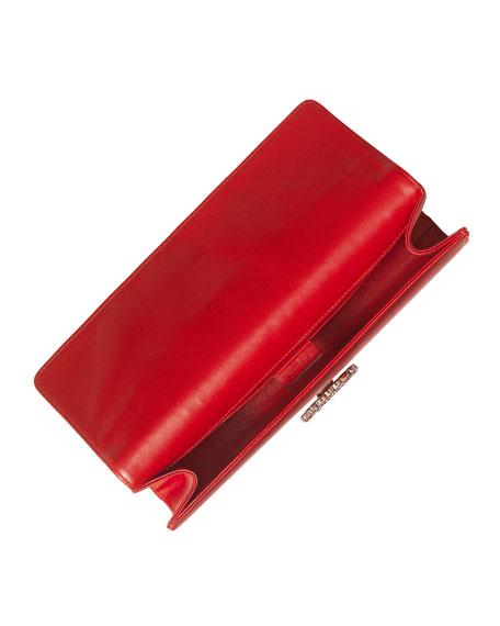 Broadway Satin Evening Clutch Bag, Red